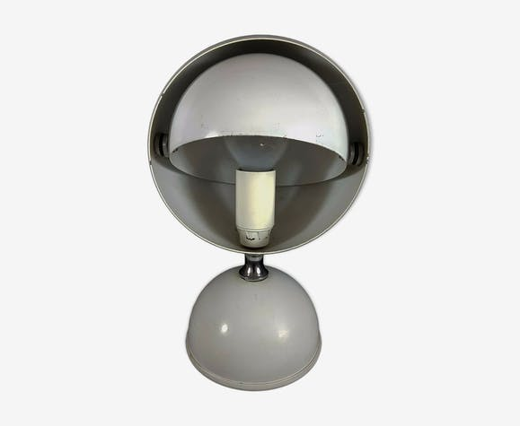 Bf63btsx Métal Blanche Table Vintage Blanc Éclipse Lampe 70 De IfYby76gv
