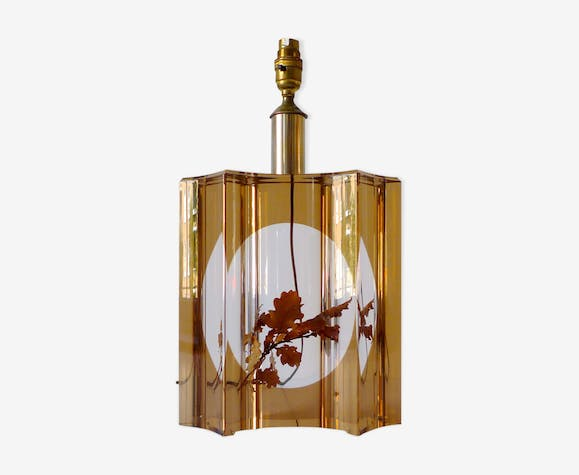 Table lamp with leaf inclusion, 1970