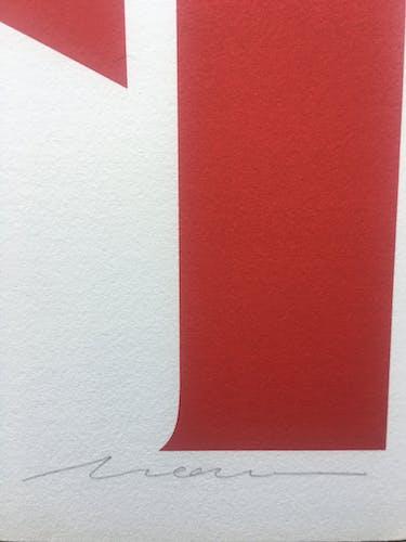 Sérigraphie contemporaine signée