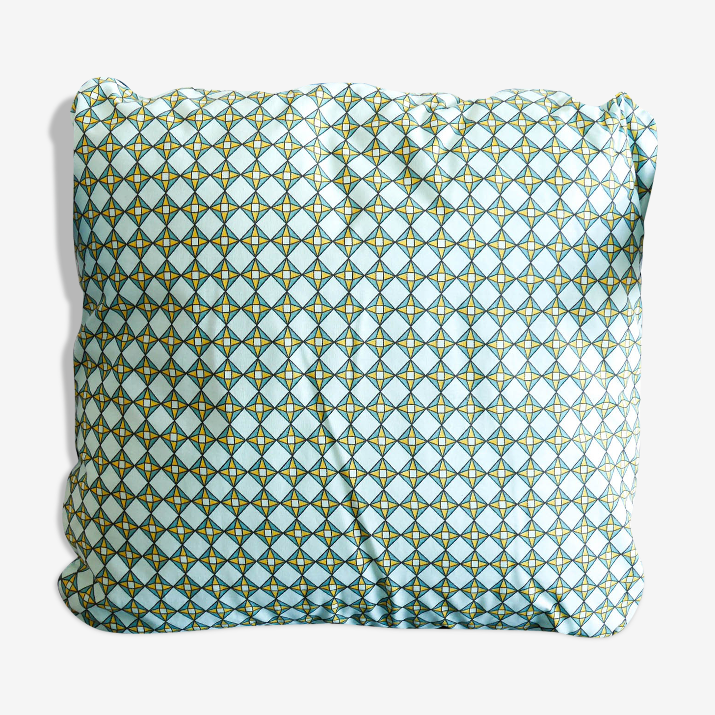 Coussin graphique style wax