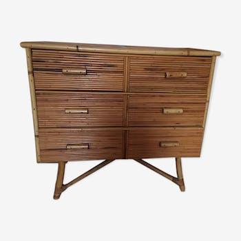 1950s dresser in rattan