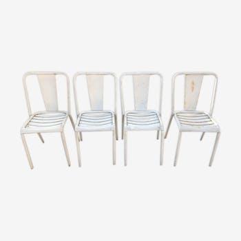 4 chairs Tolix, model t4