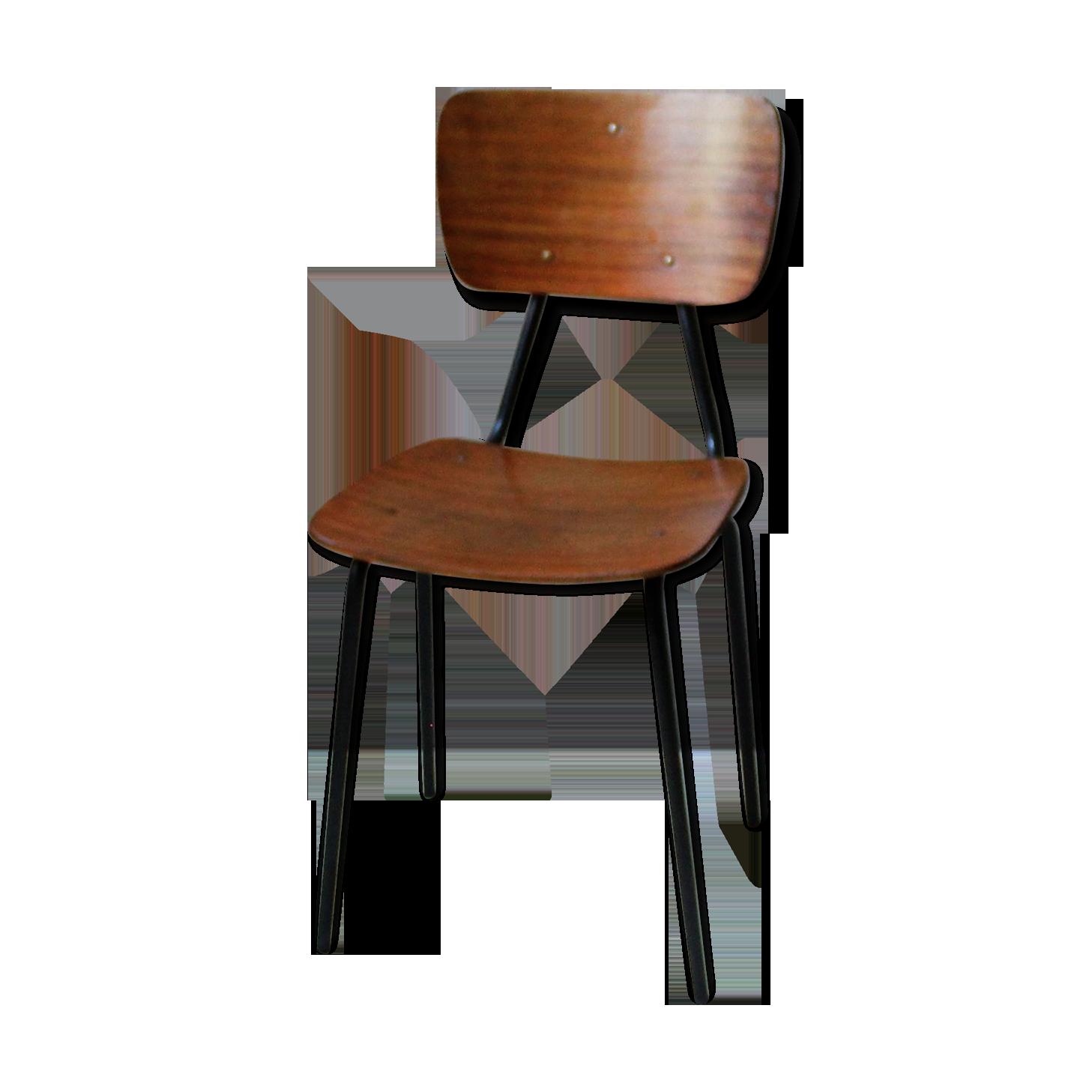 Chaise de bureau vintage fer bois couleur vintage qusqjlq