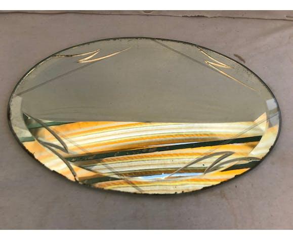 Ancien miroir art deco - 35x24cm
