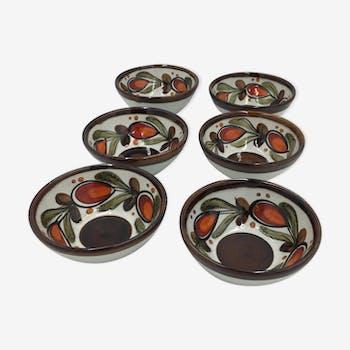 Lot of 6 bowls SMF Schramberg Bernau