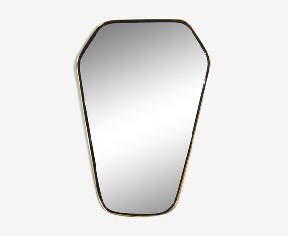 free form mirror  9s free-form mirror - 9 X 9 cm - glass and crystal ...