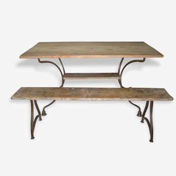 Table, bench and bench set