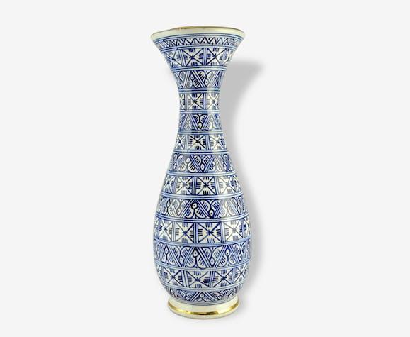 Grand Vase Orientaliste En Cramique Dazouz Kharraz Tunisie
