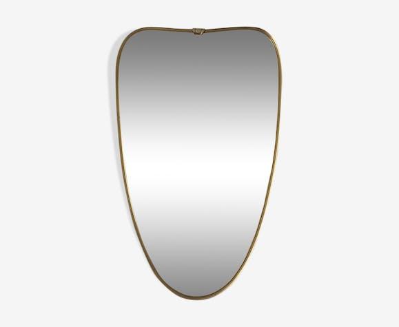 Miroir rétroviseur vintage 1960, 61x37cm