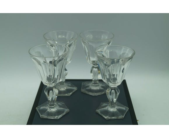 4 verres en cristal
