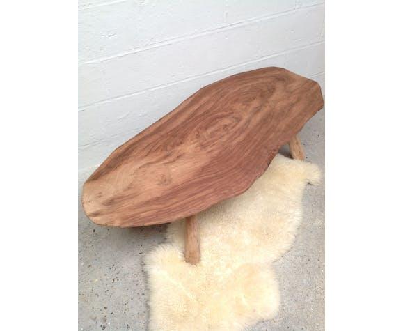 Table basse tronc d'arbre 1970