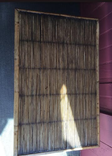 Bass in rattan and bamboo table