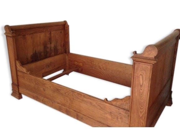 ancien lit rouleaux bois mat riau bois couleur classique 53115. Black Bedroom Furniture Sets. Home Design Ideas