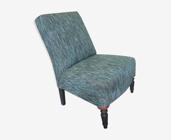 chauffeuse style napol on iii tissu bleu design 69qdy4h. Black Bedroom Furniture Sets. Home Design Ideas