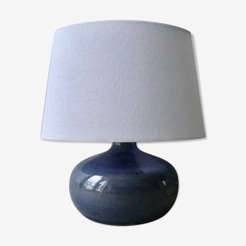 Lampe en grès bleu des années 60