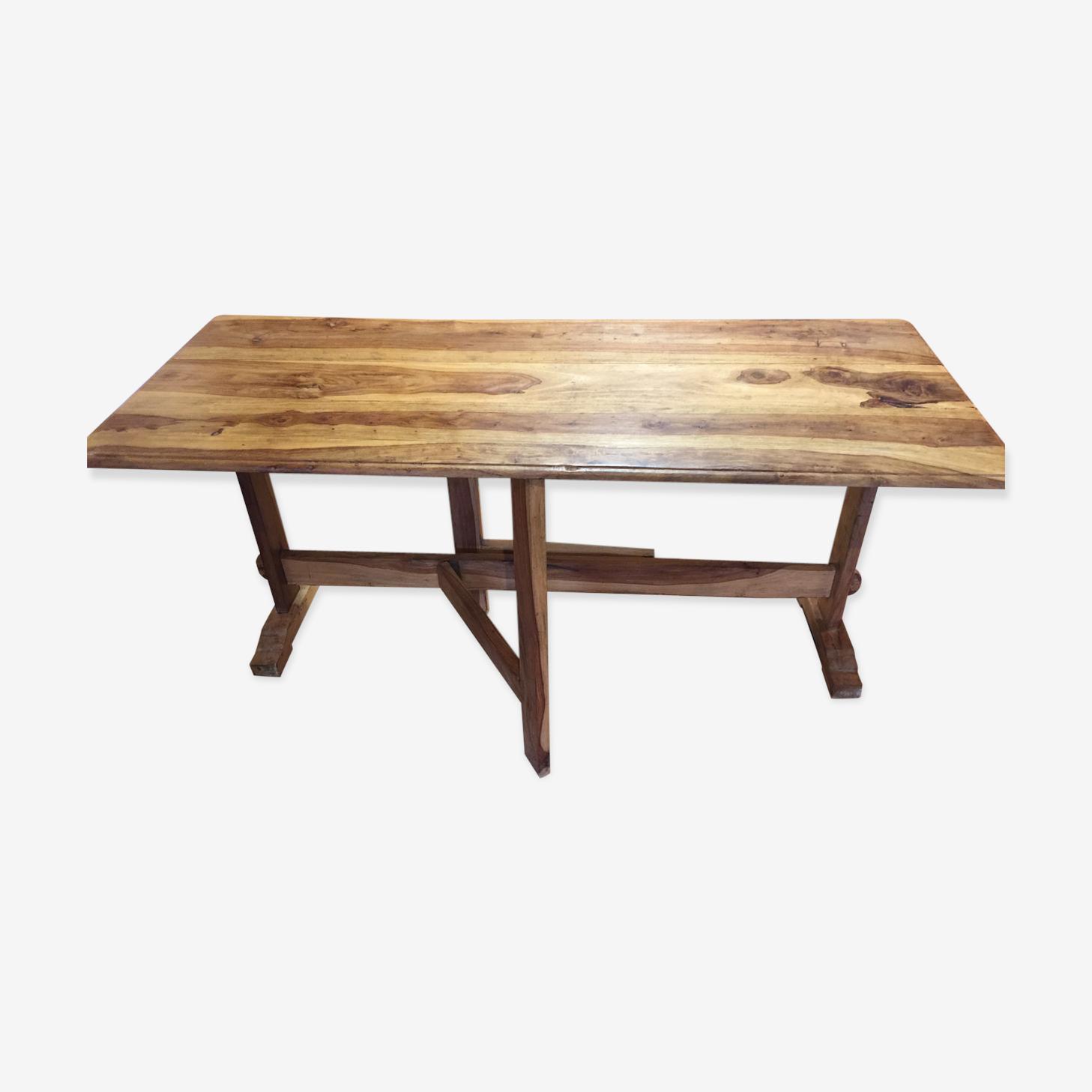 Table en noyer pliable fabrication artisanale