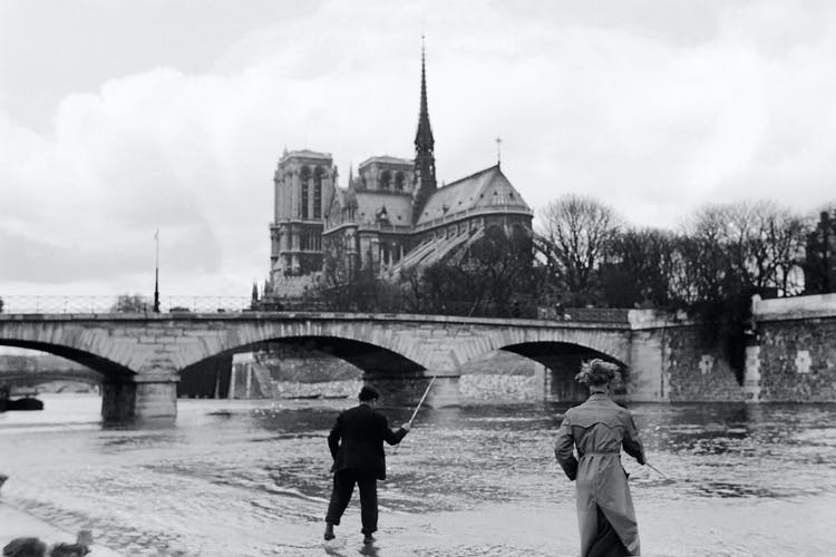 Fishing line in front of Notre-Dame