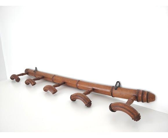 Patère en bois façon bambou