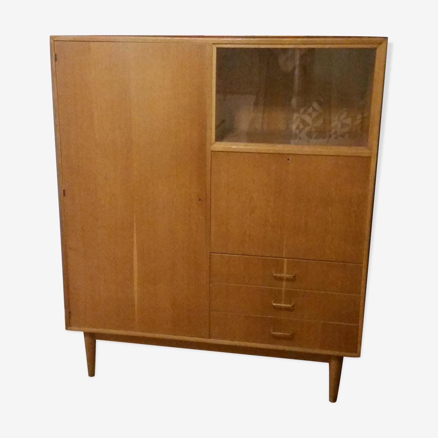 Meuble vitrine secrétaire et armoire