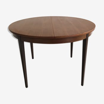 Scandinavian vintage teak and mahogany table