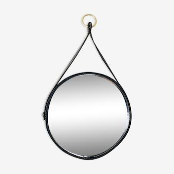 Miroir vintage des années 50 - 29 x 29 cm
