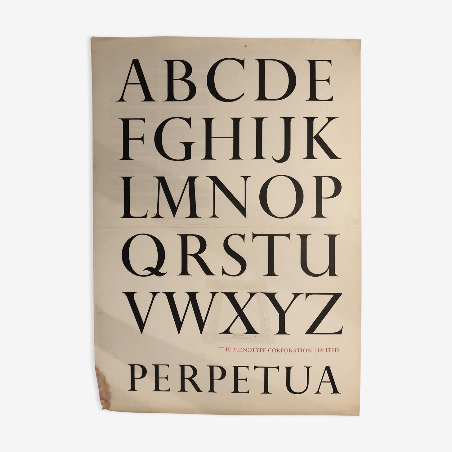 Affiche de collection typographique
