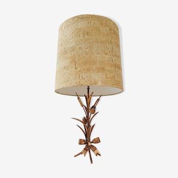 Lampe de table en métal doré 1970