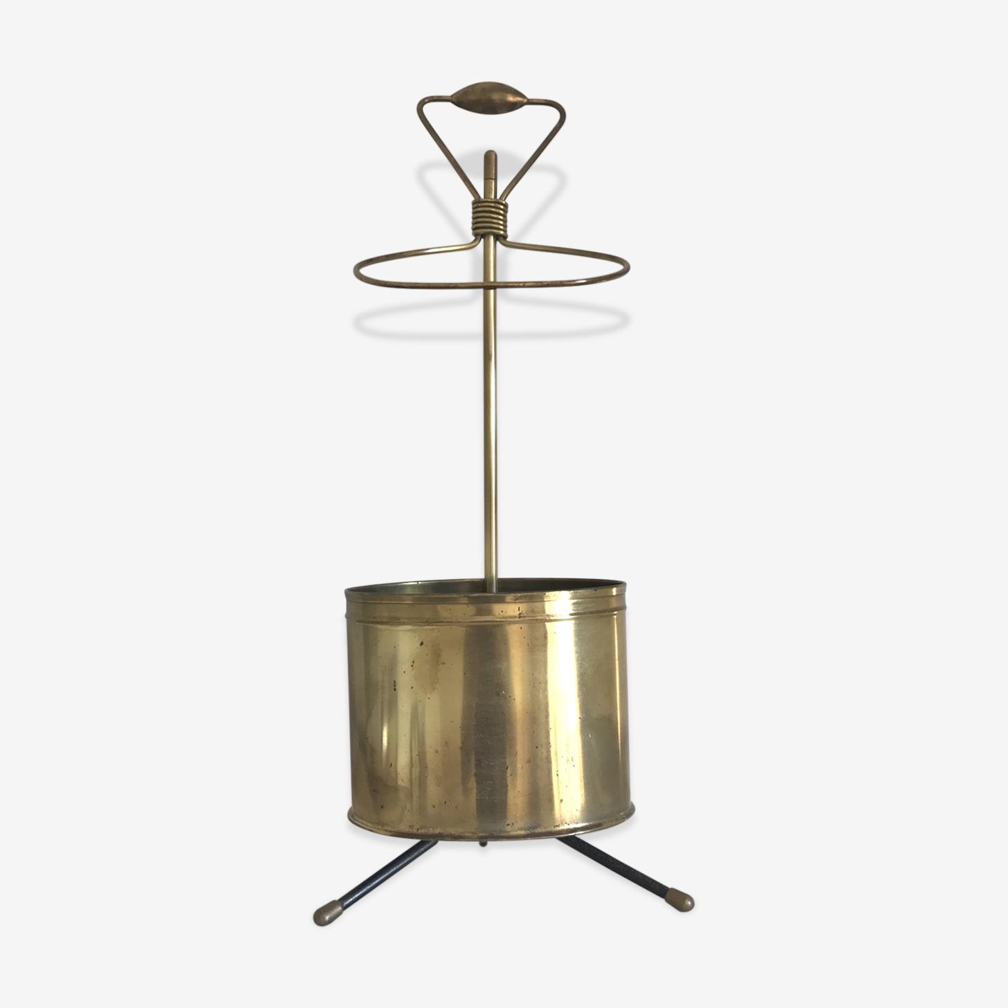 Porte-parapluie Mathieu Matégot laiton doré 1950s
