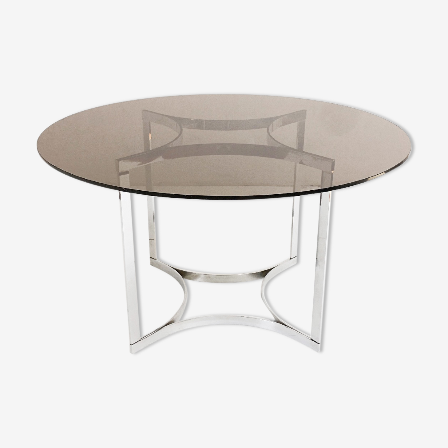Round dining room table years 70