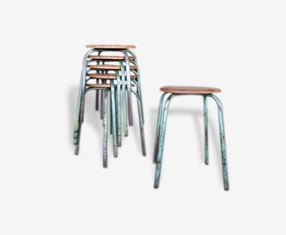 tout neuf d58f7 b3884 Tabourets écolier métal / bois - métal - industriel - 67682