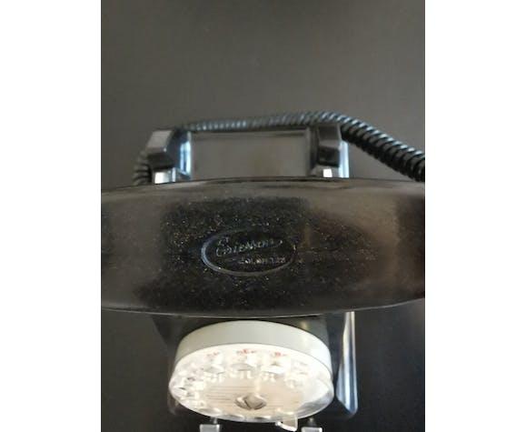 Téléphone Ericsson vintage en bakélite noire