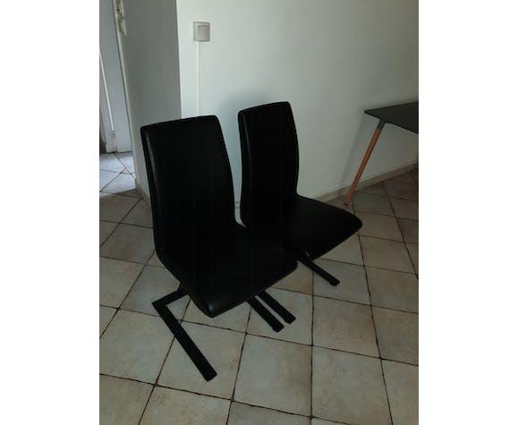 Chaises design en cuir veritable