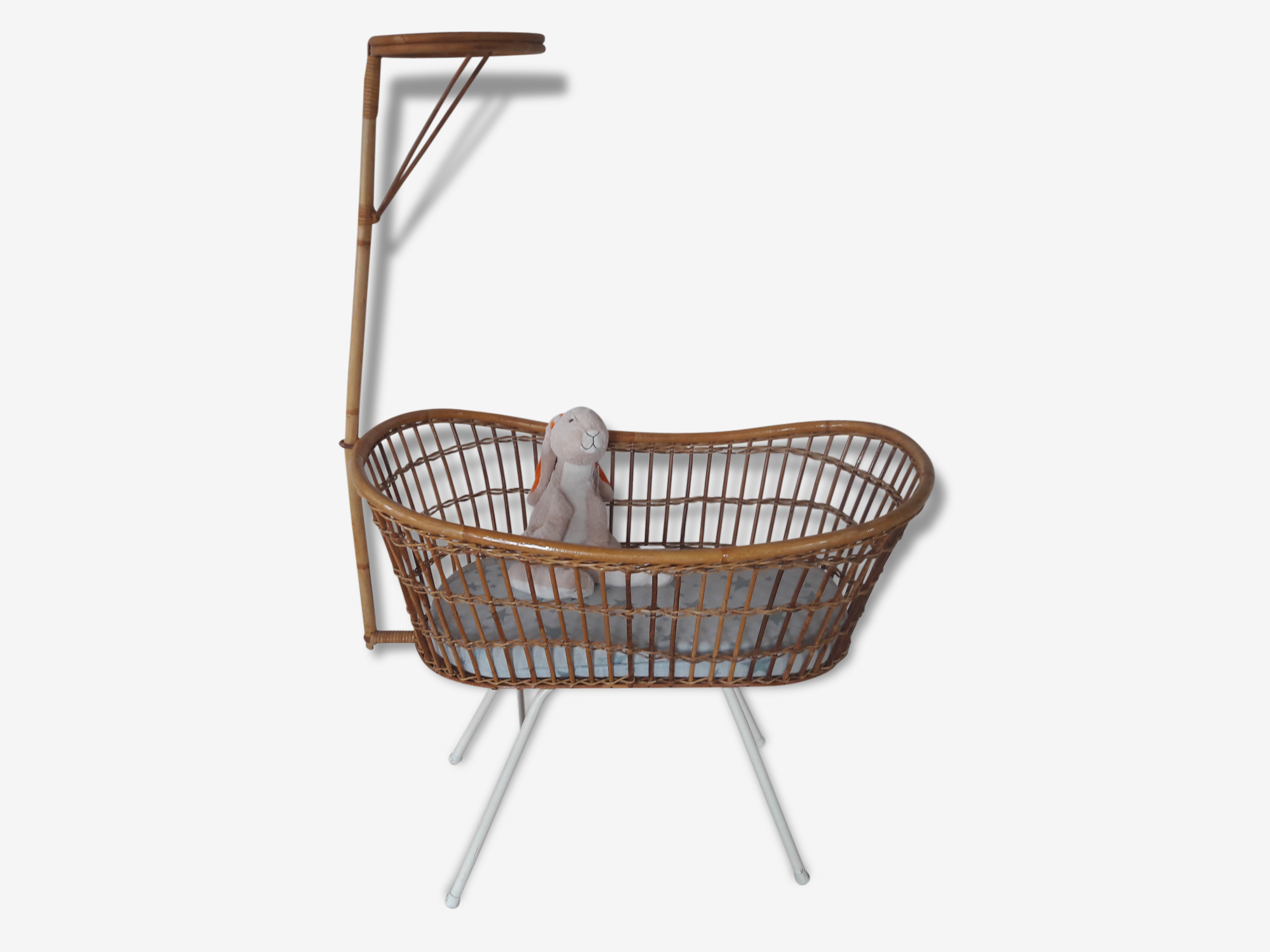 Rattan Crib by Rohe Noordwolde made in Holland
