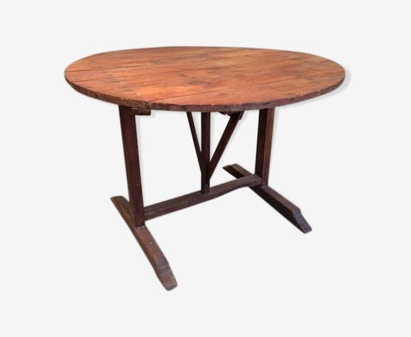table vigneronne bois mat riau bois couleur classique k4bwjgf. Black Bedroom Furniture Sets. Home Design Ideas