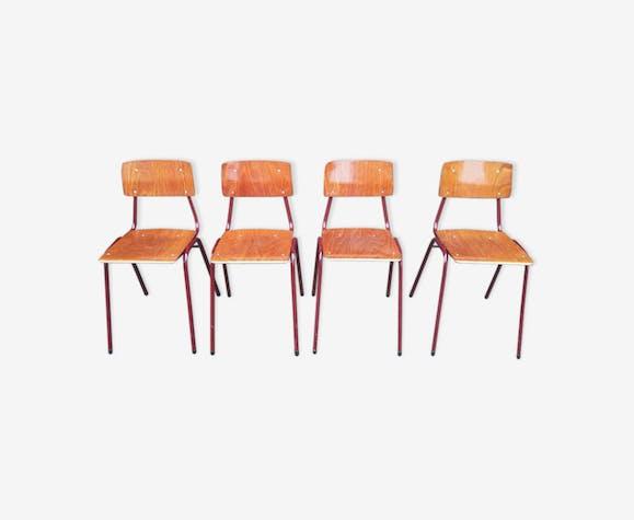 Set de 4 chaises obo vintage 1970