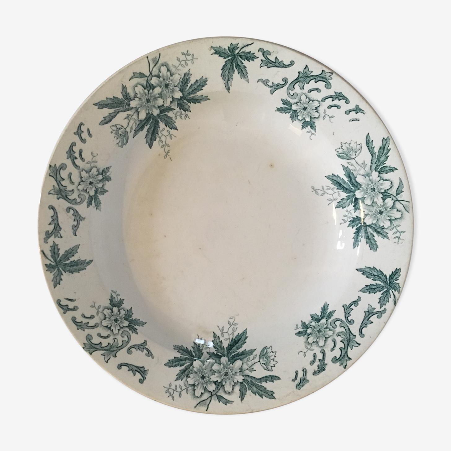 "Deep dish of presentation ""Anemone"" porcelain Saint Amand collection"