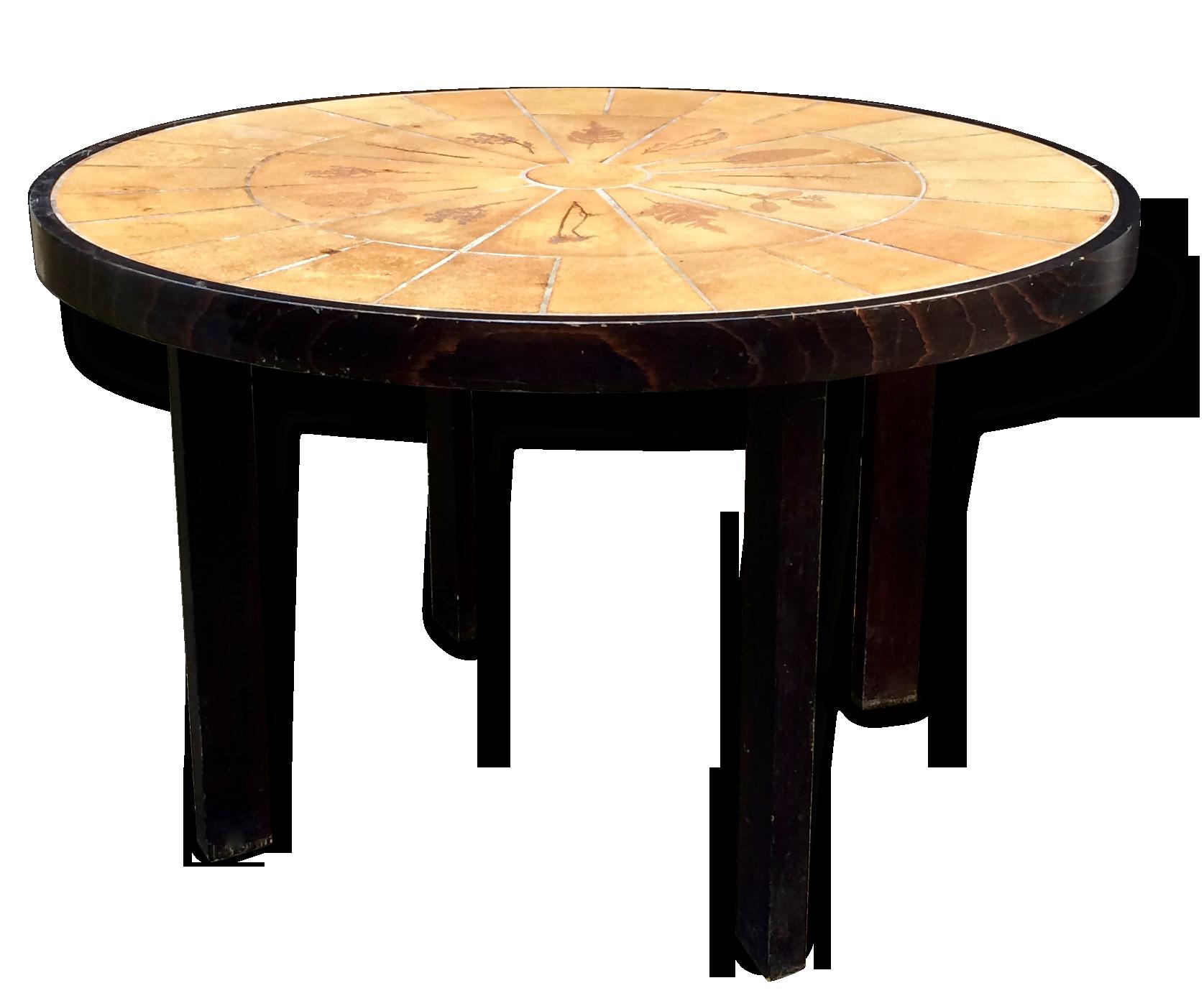 Table ronde haute Capron cramique porcelaine faence design
