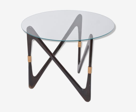 Elegant Italian Coffee Table in the Style of Cesare Lacca, 1950 s