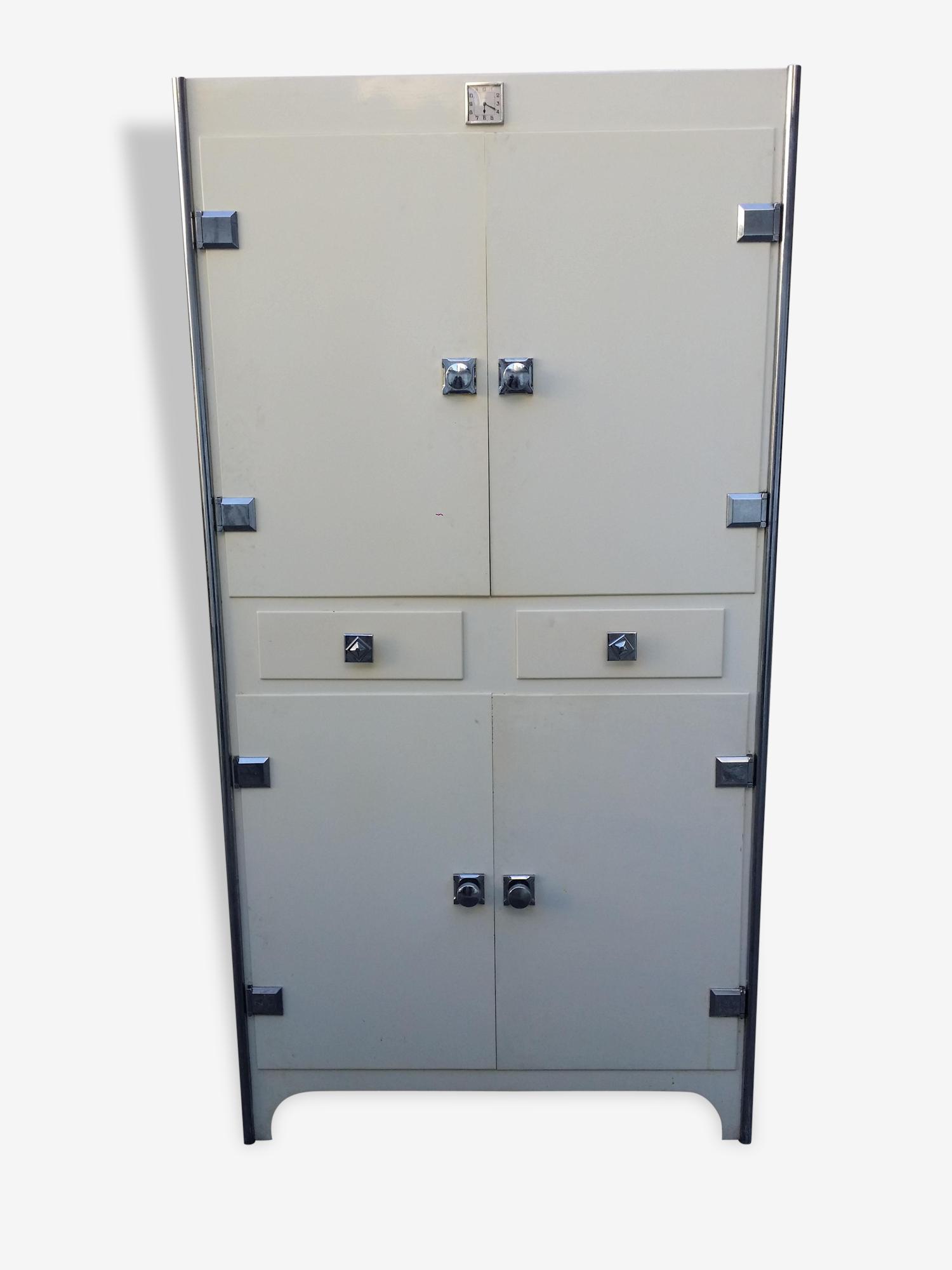 Buffet métallique 4 portes 2 tiroirs