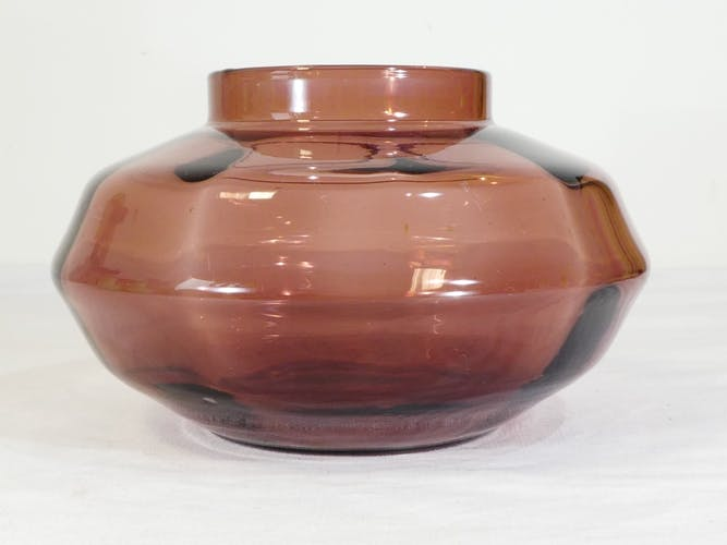 Vase en verre Verextrafort verrerie doyen Belgique art deco