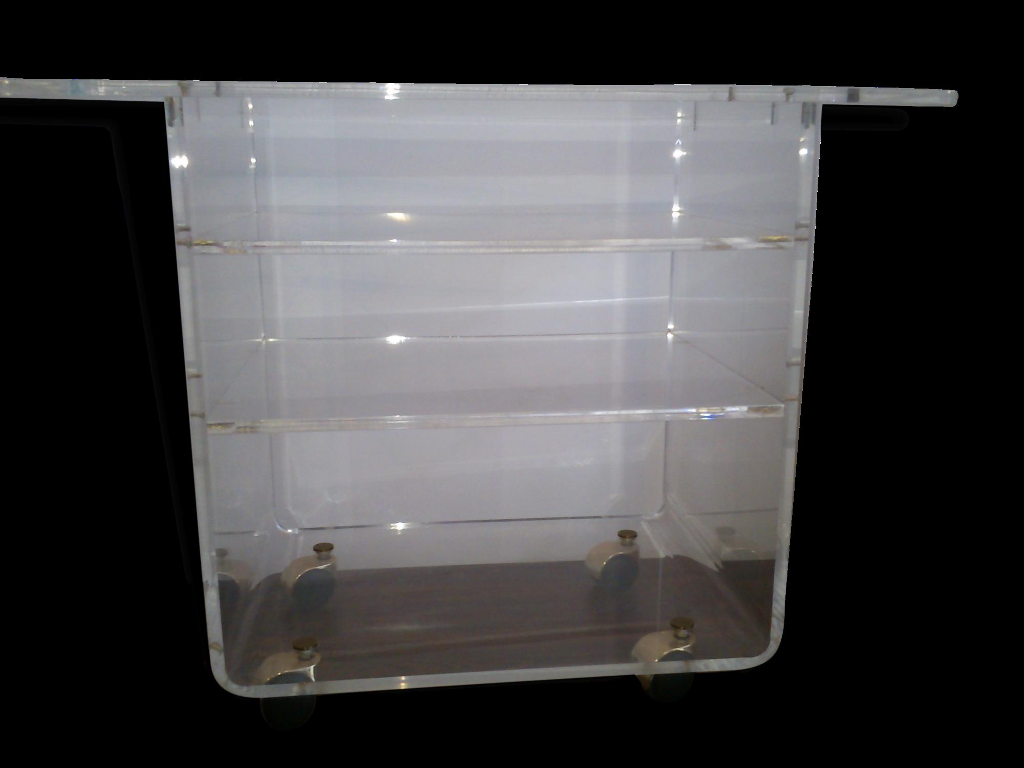 Meuble En Plexiglas Les Bureaux Home Crations Dans Bureau  # Meuble Tv Sur Roulettes First Plexiglass