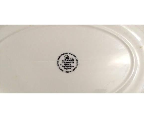 Plat en porcelaine anglaise vintage