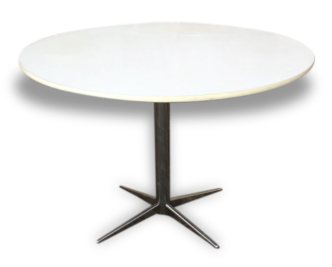 Table Ronde Blanche Vintage
