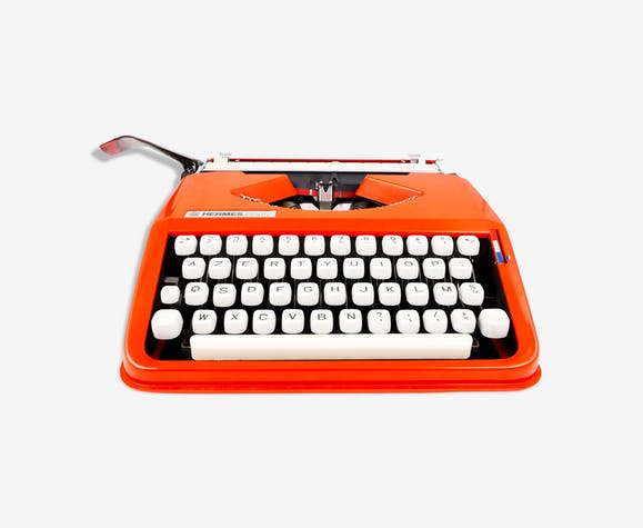 Machine à écrire hermes baby orange cursive