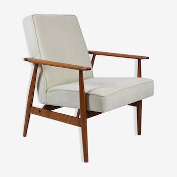 Armchair 300-190 designer H. Lis 60's Poland, beige fabric