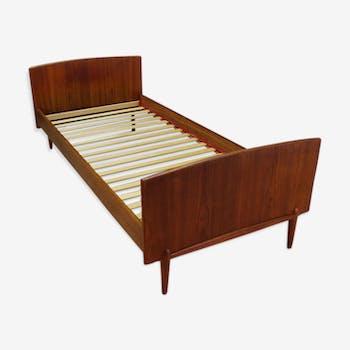 lit tete de lit et chevet suspendu vintage design scandinave ann e 50 60 bois mat riau. Black Bedroom Furniture Sets. Home Design Ideas