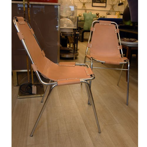 "Pair of chairs for ""Les Arcs"" made in France 1970"