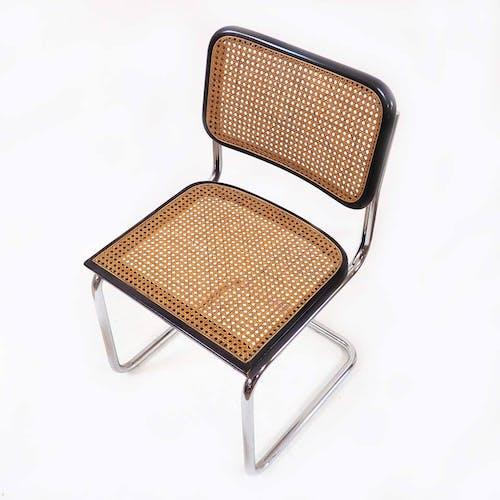 Pair of cesca B32 black Marcel Breuer chairs