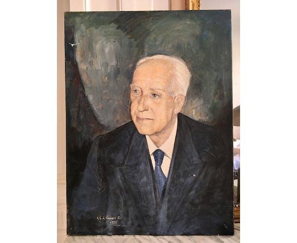 Portrait oil on canvas 20th century