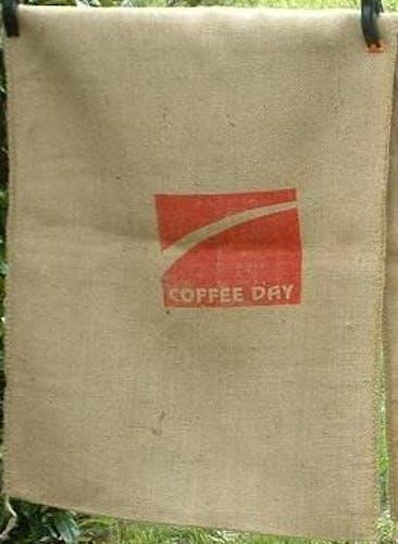 Lot de 3 sacs a café en toile de jute , coffees india - amrutha et  coffee day
